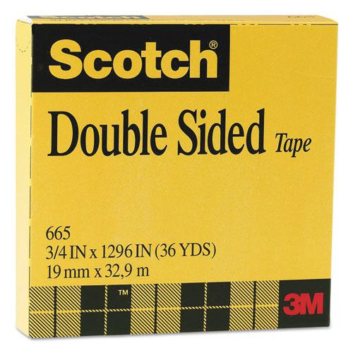 """Double-Sided Tape, 3"""" Core, 0.75"""" x 36 yds, Clear. Picture 2"""