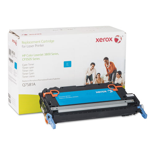 006R01343 Replacement Toner for Q7581A (503A), Cyan. Picture 1