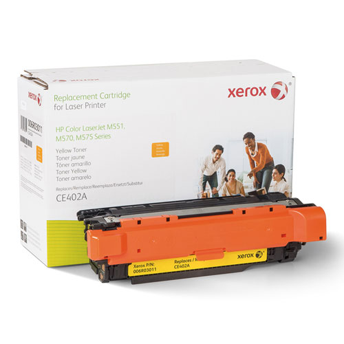 006R03011 Replacement Toner for CE402A (507A), Yellow. Picture 1