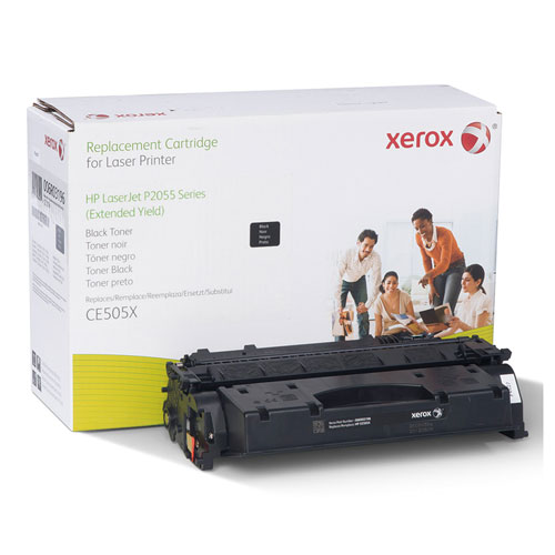 006R03196 Replacement Extended-Yield Toner for CE505X (05X), Black. Picture 1