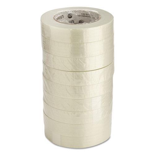 """190# Medium Grade Filament Tape, 3"""" Core, 24 mm x 54.8 m, Clear. Picture 4"""
