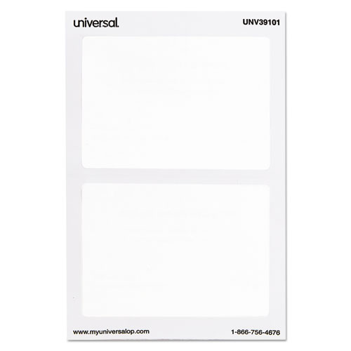 Plain Self-Adhesive Name Badges, 3 1/2 x 2 1/4, White, 100/Pack. Picture 2