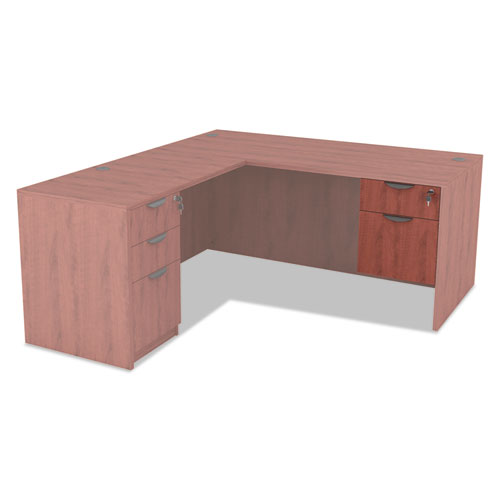 Alera Valencia Series 3/4 Box/File Pedestal, 15.63w x 20.5d x 19.25h, Medium Cherry. Picture 5