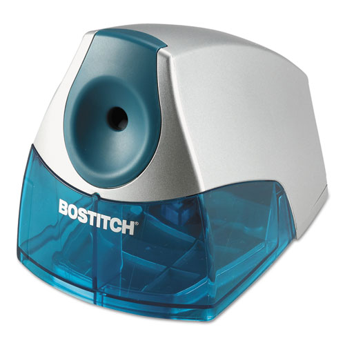 """Personal Electric Pencil Sharpener, AC-Powered, 4.25"""" x 8.4"""" x 4"""", Blue. Picture 2"""