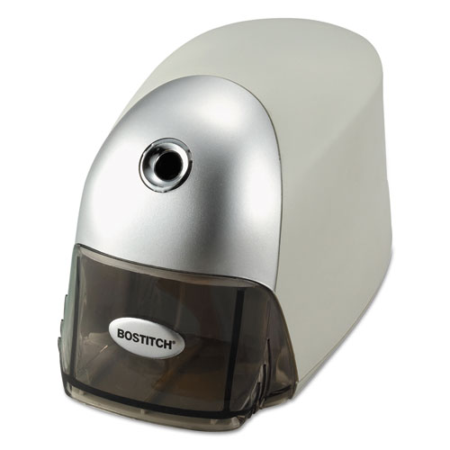 "QuietSharp Executive Electric Pencil Sharpener, AC-Powered, 4"" x 7.5"" x 5"", Gray. Picture 1"