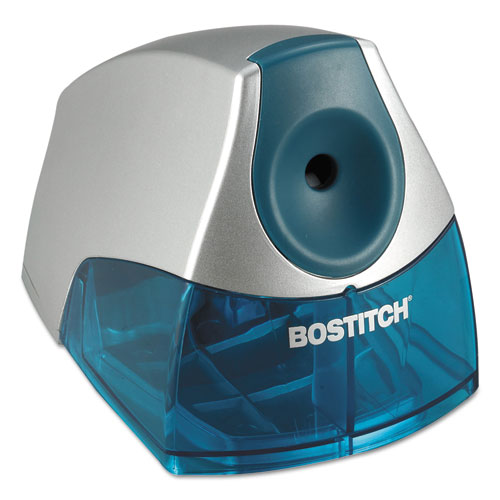 """Personal Electric Pencil Sharpener, AC-Powered, 4.25"""" x 8.4"""" x 4"""", Blue. Picture 3"""