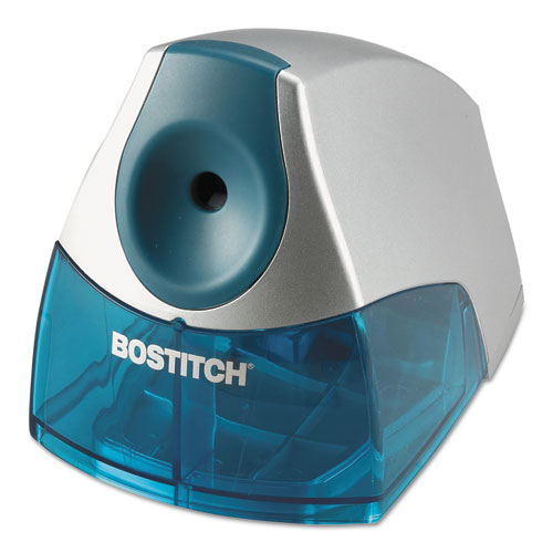 """Personal Electric Pencil Sharpener, AC-Powered, 4.25"""" x 8.4"""" x 4"""", Blue. Picture 1"""