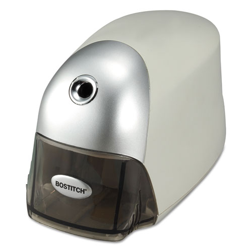 "QuietSharp Executive Electric Pencil Sharpener, AC-Powered, 4"" x 7.5"" x 5"", Gray. Picture 2"