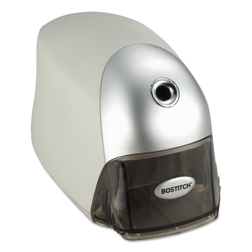 "QuietSharp Executive Electric Pencil Sharpener, AC-Powered, 4"" x 7.5"" x 5"", Gray. Picture 3"