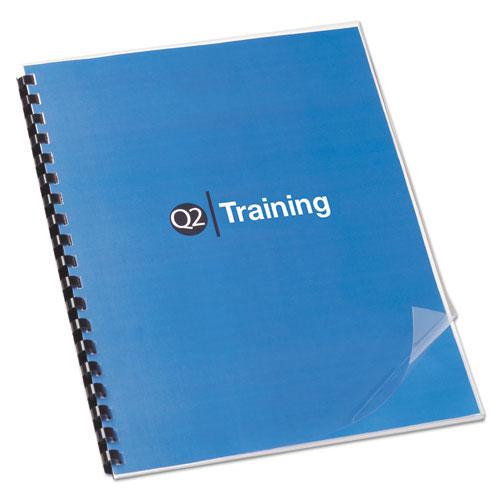 Clear View Presentation Binding System Cover, 11 x 8 1/2, Clear, 100/Box