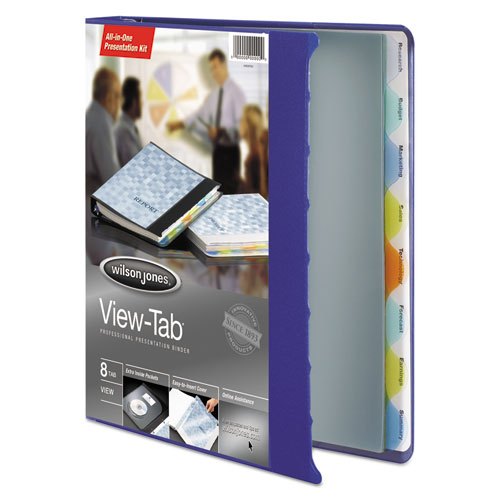 """View-Tab Presentation Round Ring View Binder With Tabs, 3 Rings, 1"""" Capacity, 11 x 8.5, Blue. Picture 2"""