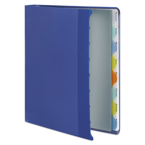 """View-Tab Presentation Round Ring View Binder With Tabs, 3 Rings, 1"""" Capacity, 11 x 8.5, Blue. Picture 4"""