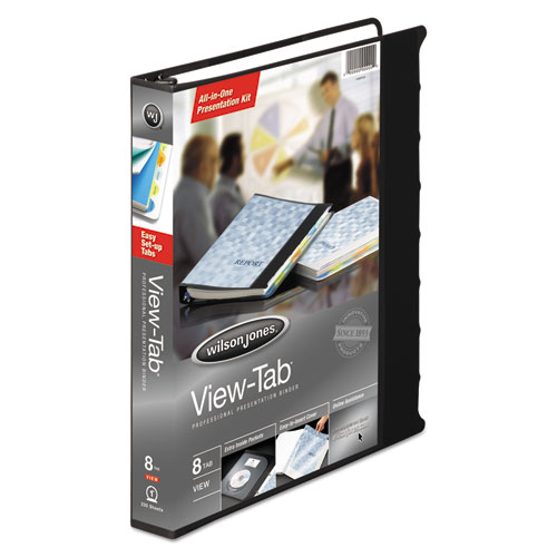 """View-Tab Presentation Round Ring View Binder With Tabs, 3 Rings, 1"""" Capacity, 11 x 8.5, Black. Picture 3"""