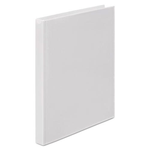 """Flexible Poly Round Ring View Binder, 3 Rings, 0.63"""" Capacity, 11 x 8.5, White. Picture 2"""