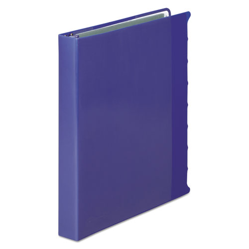"""View-Tab Presentation Round Ring View Binder With Tabs, 3 Rings, 1"""" Capacity, 11 x 8.5, Blue. Picture 1"""