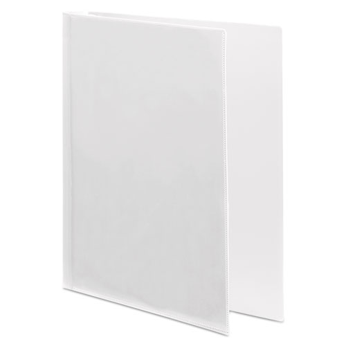 """Flexible Poly Round Ring View Binder, 3 Rings, 0.63"""" Capacity, 11 x 8.5, White. Picture 3"""