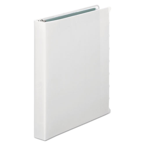 """View-Tab Presentation Round Ring View Binder With Tabs, 3 Rings, 1"""" Capacity, 11 x 8.5, White. Picture 3"""