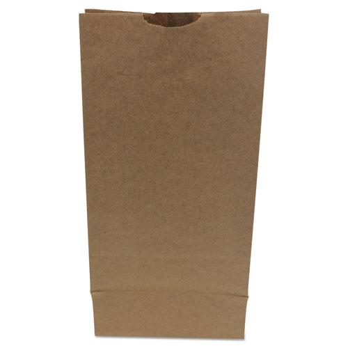 """Grocery Paper Bags, 50 lbs Capacity, #10, 6.31""""w x 4.19""""d x 13.38""""h, Kraft, 500 Bags. Picture 1"""
