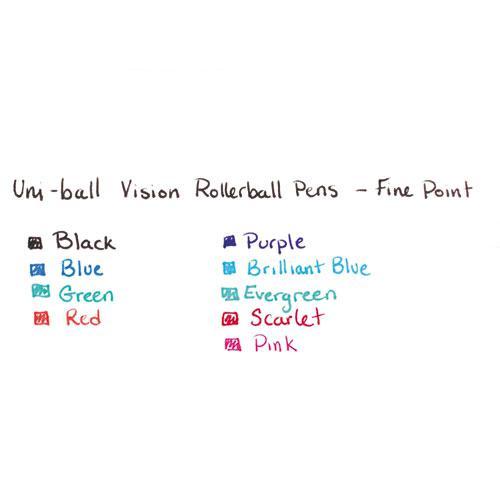 VISION Stick Roller Ball Pen, Fine 0.7mm, Majestic Purple Ink, Gray Barrel, Dozen. Picture 3