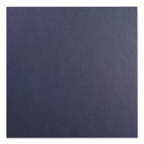 Leather Look Presentation Covers for Binding Systems, 11 x 8.5, Navy, 100 Sets/Box. Picture 3