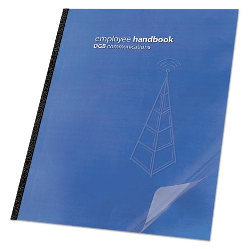 Clear View Presentation Binding System Cover, 11 1/4 x 8 3/4, Clear, 25/Pack. Picture 1