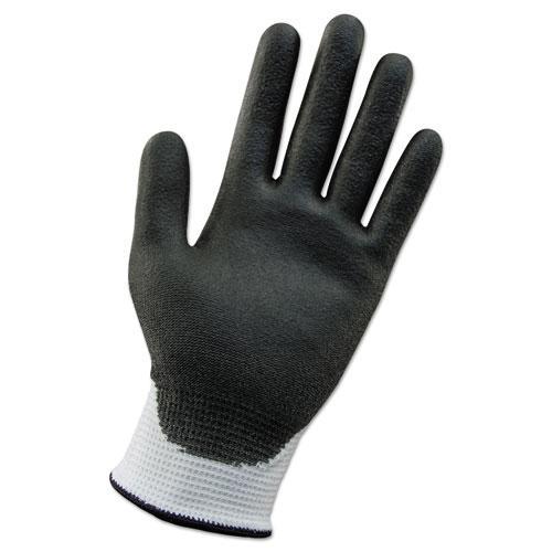G60 ANSI Level 2 Cut-Resistant Glove, WHT/Blk, 230mm Length, Medium/SZ 8, 12 PR. Picture 1
