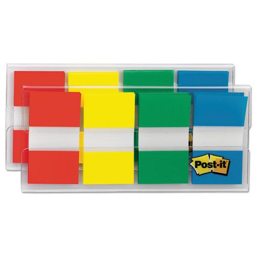 Page Flags in Portable Dispenser, Assorted Primary, 160 Flags/Dispenser. Picture 1