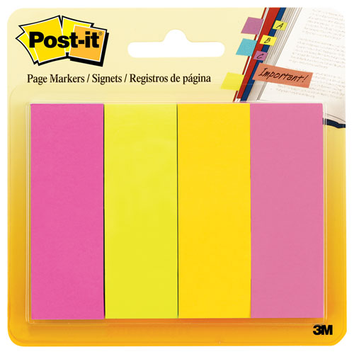 Page Flag Markers, Assorted Brights, 50 Strips/Pad, 4 Pads/Pack. Picture 1