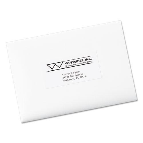 Copier Mailing Labels, Copiers, 2 x 4.25, White, 10/Sheet, 100 Sheets/Box. Picture 2
