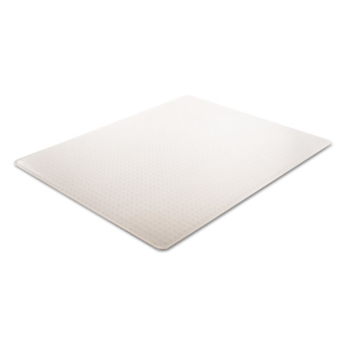 SuperMat Frequent Use Chair Mat, Med Pile Carpet, 45 x 53, Beveled Rectangle, Clear. Picture 2