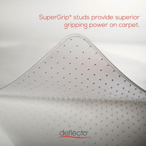 SuperMat Frequent Use Chair Mat for Medium Pile Carpet, 45 x 53, Wide Lipped, Clear. Picture 7