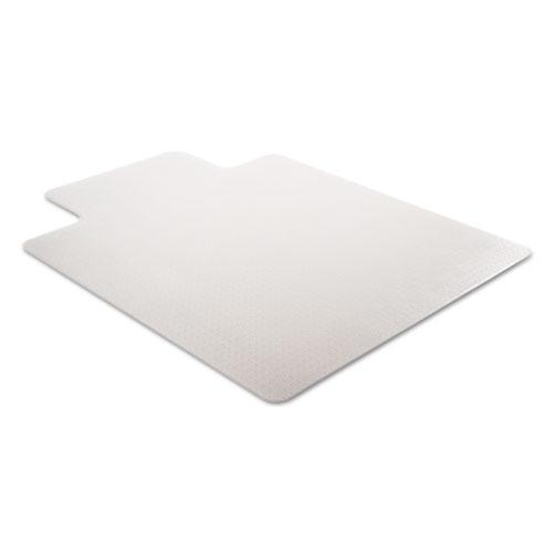 SuperMat Frequent Use Chair Mat for Medium Pile Carpet, 45 x 53, Wide Lipped, Clear. Picture 3