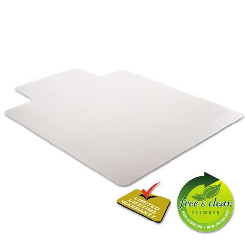SuperMat Frequent Use Chair Mat for Medium Pile Carpet, 45 x 53, Wide Lipped, Clear. Picture 6