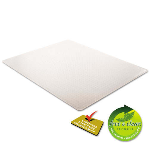 SuperMat Frequent Use Chair Mat, Medium Pile Carpet, Flat, 46 x 60, Rectangle, Clear. Picture 2