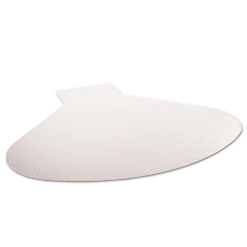 SuperMat Frequent Use Chair Mat, Medium Pile Carpet, 60 x 66, Workstation, Clear. Picture 9