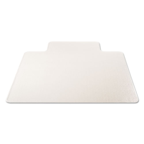 RollaMat Frequent Use Chair Mat, Med Pile Carpet, Flat, 45 x 53, Wide Lipped, Clear. Picture 1