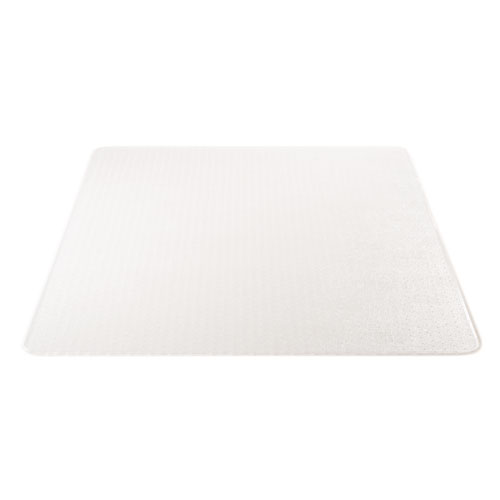 SuperMat Frequent Use Chair Mat, Med Pile Carpet, 45 x 53, Beveled Rectangle, Clear. Picture 9