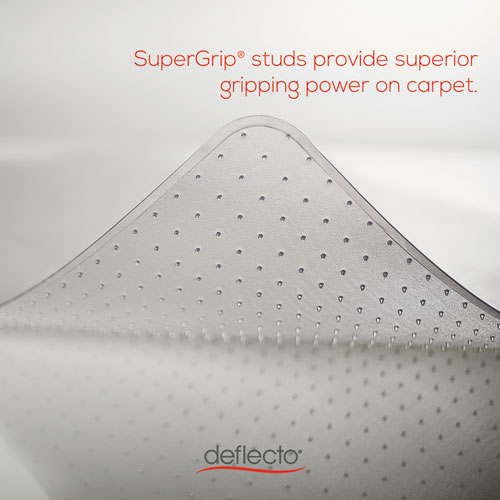 SuperMat Frequent Use Chair Mat, Medium Pile Carpet, Flat, 46 x 60, Rectangle, Clear. Picture 9