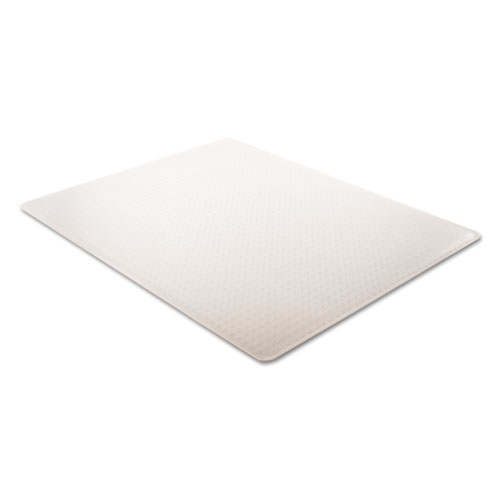 SuperMat Frequent Use Chair Mat, Med Pile Carpet, 45 x 53, Beveled Rectangle, Clear. Picture 3