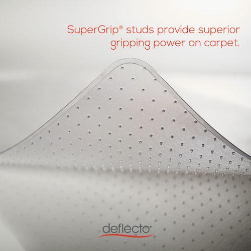 DuraMat Moderate Use Chair Mat, Low Pile Carpet, Flat, 46 x 60, Rectangle, Clear