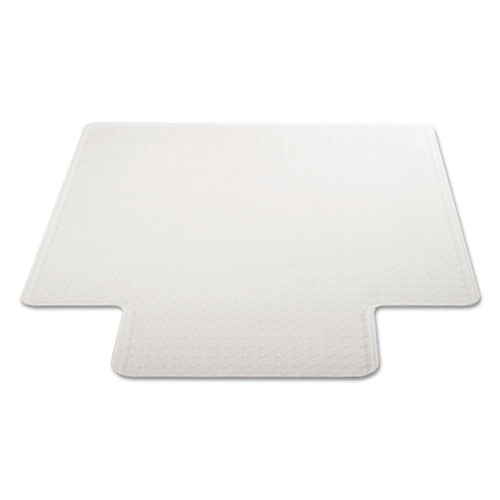 DuraMat Moderate Use Chair Mat for Low Pile Carpet, 46 x 60, Wide Lipped, Clear. Picture 1