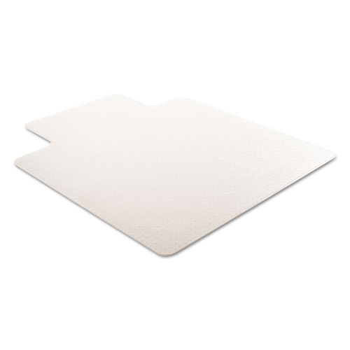 RollaMat Frequent Use Chair Mat, Med Pile Carpet, Flat, 45 x 53, Wide Lipped, Clear. Picture 5