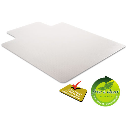 DuraMat Moderate Use Chair Mat for Low Pile Carpet, 46 x 60, Wide Lipped, Clear. Picture 4