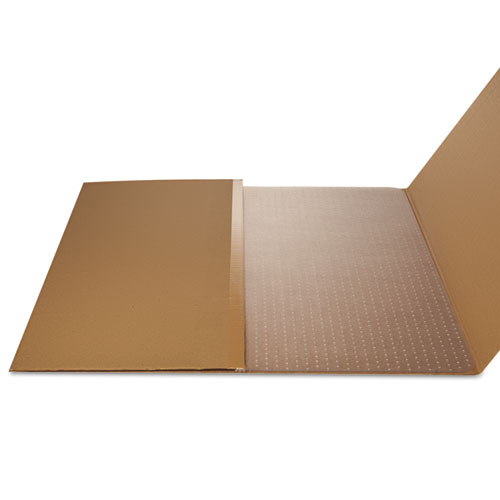 SuperMat Frequent Use Chair Mat, Med Pile Carpet, 45 x 53, Beveled Rectangle, Clear. Picture 8