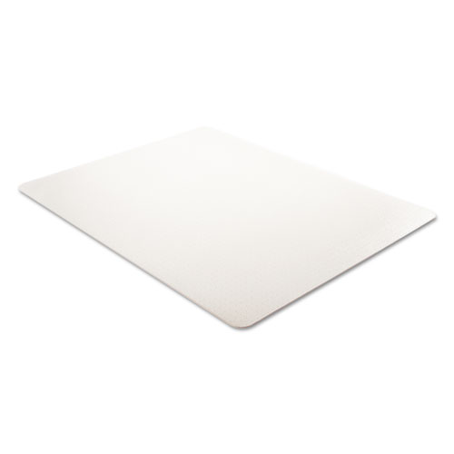 EconoMat Occasional Use Chair Mat, Low Pile Carpet, Flat, 46 x 60, Rectangle, Clear. Picture 2