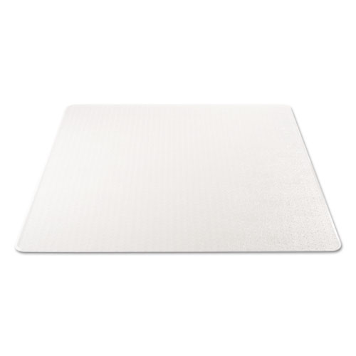 SuperMat Frequent Use Chair Mat, Medium Pile Carpet, Flat, 46 x 60, Rectangle, Clear. Picture 5