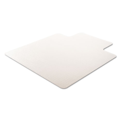 RollaMat Frequent Use Chair Mat, Med Pile Carpet, Flat, 45 x 53, Wide Lipped, Clear. Picture 6