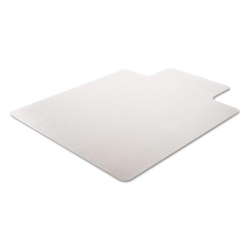 SuperMat Frequent Use Chair Mat for Medium Pile Carpet, 45 x 53, Wide Lipped, Clear. Picture 2