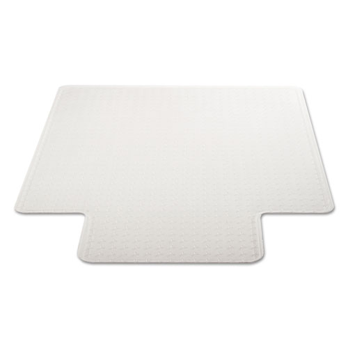 DuraMat Moderate Use Chair Mat, Low Pile Carpet, Flat, 36 x 48, Lipped, Clear. Picture 4
