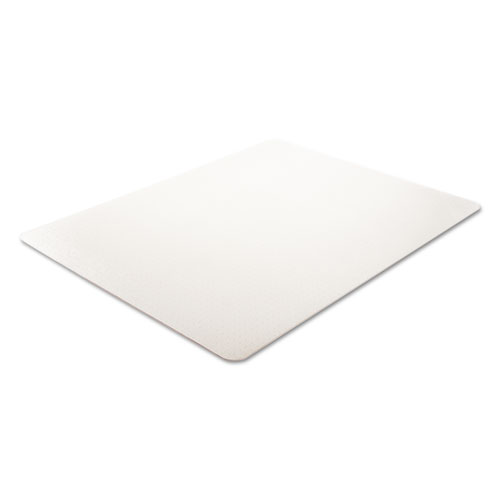 EconoMat Occasional Use Chair Mat, Low Pile Carpet, Flat, 46 x 60, Rectangle, Clear. Picture 3